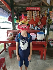 Sullivan in a mask, Indonesia