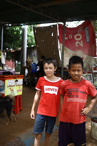 boys from different parts of the world- Cambodia & America