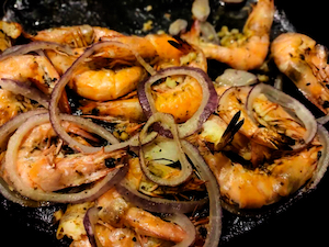 pan fried shrimps