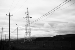 images of power poles in the grassland 草原上的电杆